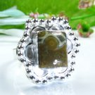 Natural unique ocean Jasper silver ring size 6 3/4 ! Gift Jewelry & Love
