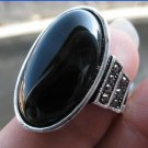 Fashion retro natural Brazil onyx Thailand silver ring size 7.5 ! Gift & Jewelry