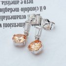18K Gold Plated Lovely champagne Cubiz Zircons earrings ! Gift Jewelry and Love
