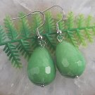 Beautiful fashion Silver earrings set - green gemstone ! Gift Jewelry & Love