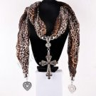 Fashion Jewelry Accessory brown Scarf With Cross Pendant Necklace ! Gift & Love