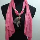 Stylish Lady Scarf Shawl Pendant Necklace ! Gift Jewelry & Fashion Accessories