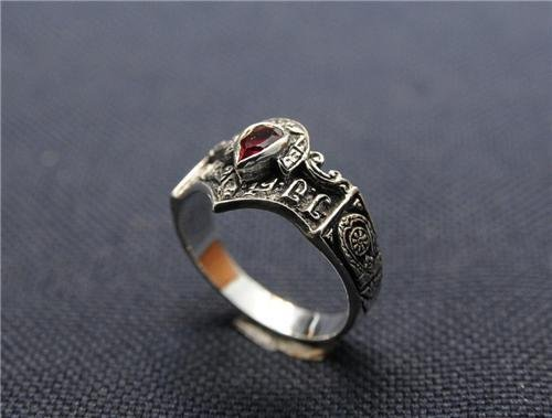 Best Fine fashion silver 925 ring set with ruby zircon ! Gift Jewelry & Love