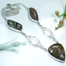Pretty jasper stones silver 925 + pendant necklace ! Gift Jewelry and Love