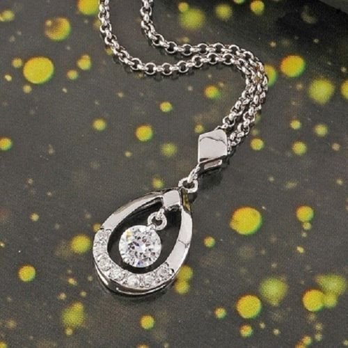 18k gold plated cubic zirconz lady pendant and necklace ! Gift Jewelry & Love