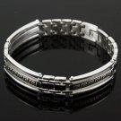 "Pretty elegant man 8.27 "" Stainless Steel Bracelet ! Gift Jewelry & Love"