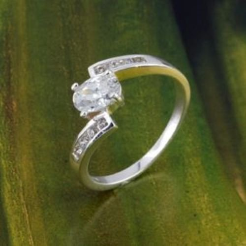 18K GP Special beautiful Lady Ring with cubic zircons ! Gift Jewelry & Love