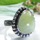 special color fashion Prehnite silver 925 ring size 9 ! Gift Jewelry and Love