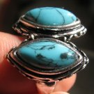 Fashion Thailand silver ring set natural Turquoise stone size 10 Gift & Jewelry
