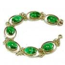Unique malachite & silver 925 bracelet fine quality ! Woman & Man gifts