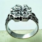 Fine fashion sterling 925 ring , flower design 5.2 gr . ! Gift Jewelry & Love