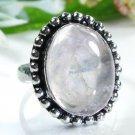 Fine classic design rose Quartz silver ring size 7 1/2 ! Gift Jewelry & Love