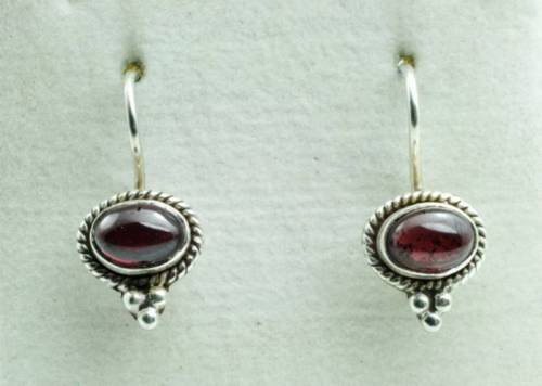 Fine fashion sterling 925 & red sapphire earrings ! Gift Jewelry & Love store