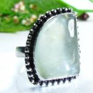 Beautiful fashion Prehnite silver 925 ring size 8 1/2 ! Gift Jewelry & Love