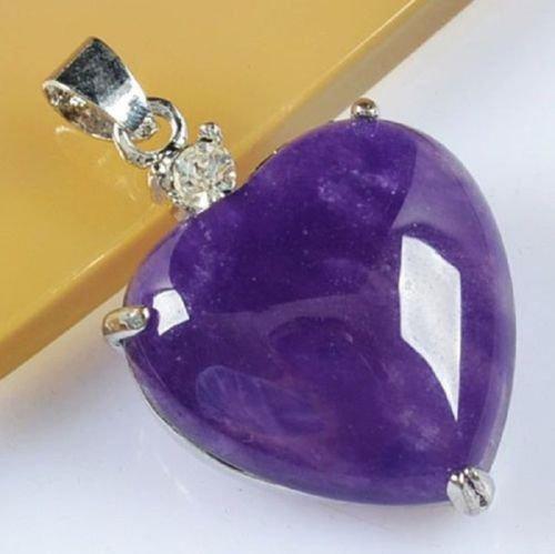 Sterling silver 925 necklace & pendant set Purple Jasper ! Gift Jewelry & Love