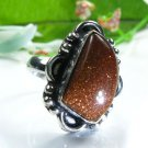 Pretty fashion silver 925 & sun sitra ring size 7 1/2 ! Gift Jewelry and Love