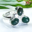 Fashion pretty Aventurine silver 925 ring size 9 3/4 ! Gift Jewelry and Love
