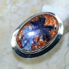 Fashion retro design dichroic glass silver ring size 7 ! Gift Jewelry & Love