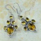 "Fashion silver lady earrings set citrine gemstone 2 1/2"" ! Gift Jewelry & Love"