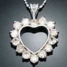 Heart Style Citrine Accent 18K GP Pendant & Necklace ! Gift Jewelry & Love
