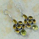 "Fashion silver lady earrings set citrine gemstone 2 1/4"" ! Gift Jewelry & Love"
