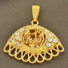 Fashion 18K gold plated Allah Zircon Pendant Necklace ! Gift Jewelry & Love