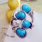 Elegant Fashion Turquoise Bead Tibet Silver Ring Size 9 ! Gift Jewelry & Love