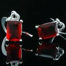 7mmx5mm Stylish Fashion Dangle Earrings - Ruby Accents ! Gift Jewelry & Love