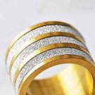 Fashion design 9k gold filled set sandy silver ring size 7.75 ! Gift & Jewelry