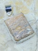 Pretty fashion brown jasper silver pendant and necklace ! Gift Jewelry and Love