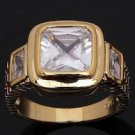 Fine fashion 10k gold filled Shunning sapphire man ring size 10 ! Gift & Jewelry