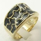 Fashion design 10K yellow gold filled black oil ring Size 10 ! Gift & Jewelry
