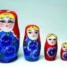 5 fine pretty vintage russian babushka matryoshka dolls ! Gift Jewelry & Love
