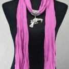 Lady Scarf Shawl Parrot Pendant Necklace ! Gift Jewelry & Fashion Accessories