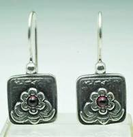 Pretty fashion sterling earrings - red flower design ! Gift Jewelry & Love