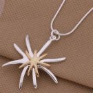 Fashion desigin solid sterling silver stars pendant & necklace ! Gift & Jewelry