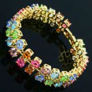 180mm 18K Gold Plated Rhinestone lovely pretty Bracelet ! Gift Jewelry and Love