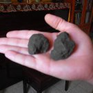 Two Basalt stone , Israel Golan mineral rock collecting