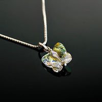 Sterling silver 925 crystal butterfly pendant & necklace ! Gift Jewelry & Love
