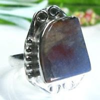 Pretty fine Jasper sterling stamp 925 ring size 7 3/4 ! Gift Jewelry and Love