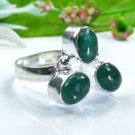 Fashion pretty Aventurine silver 925 ring size 8 1/2 ! Gift Jewelry and Love