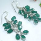 Fine pretty silver 925 & natural chalcedony earrings ! Gift Jewelry & Love