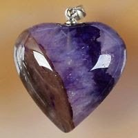 Silver necklace & pendant set purple agate geode heart ! Gift Jewelry & Love