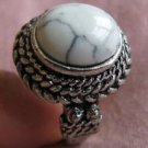 Fashion Thailand silver ring white Turquoise stone size 10 ! Gift Jewelry & Love
