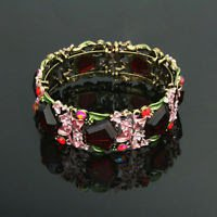 Fashion beautiful 24k gold plated flowers lady Bangle ! Jewelry Gift & Bracelet