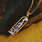 18K Gold Plated Egypt hieroglyphics Pendant and Necklace ! Jewelry gift & love