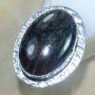 Fashion retro design natural Jasper silver ring size 10 ! Gift Jewelry & Love