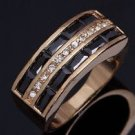 Fashion desaign real gold filled cubic zircon man ring size 11 ! Gift & Jewelry