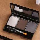 Women High Brow Eyebrow Powder Kit Wax Highlighter Shaper Brush Set -Love & Gift