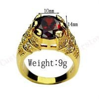 Fine fashion 10kt gold filled red ruby man woman ring size 11 ! Gift & Jewelry